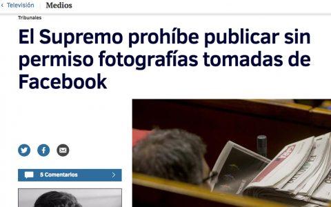 Supremo prohibe usar fotos de FaceBook