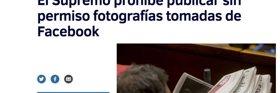 Supremo prohibe usar fotos de FaceBook